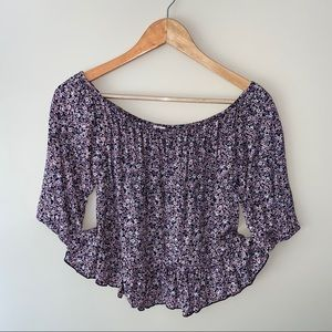 GARAGE floral blouse